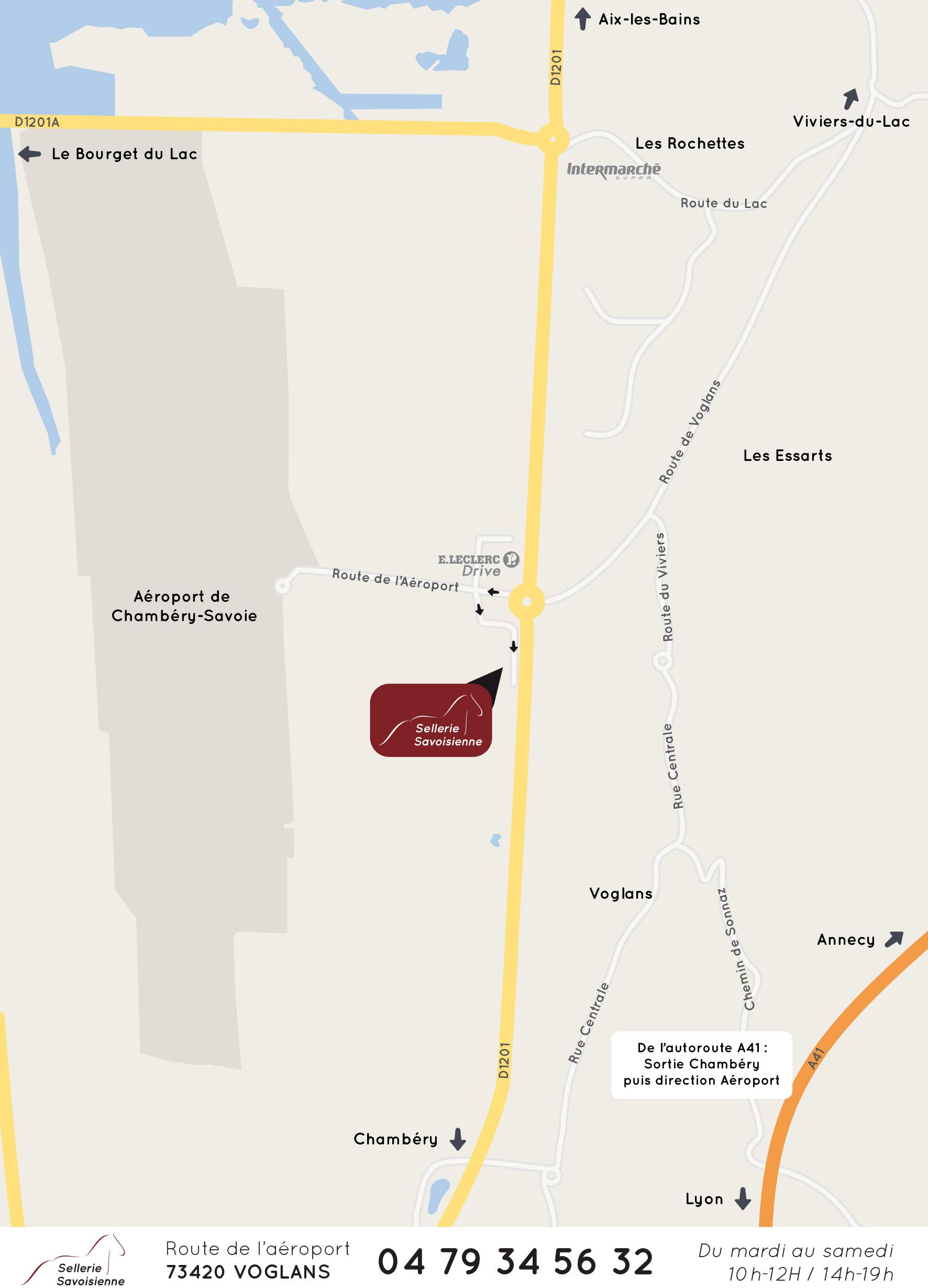 Plan du magasin Sellerie Savoisienne